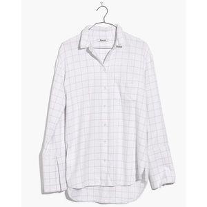Madewell Flannel Oversized Ex-Boyfriend Shirt
